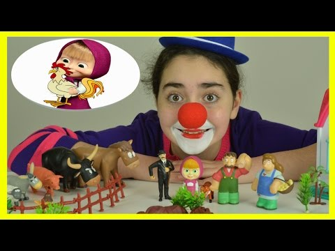 Farm Animals For Kids – Educational Fun Learning Video with Clown Flower