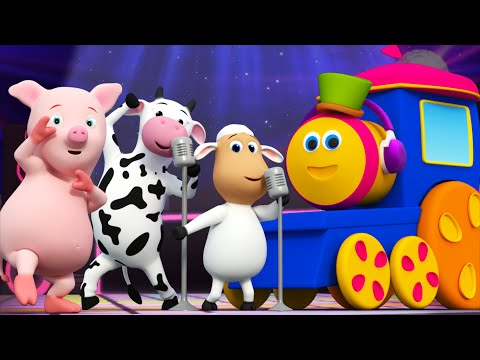 Bob The Train | Animal Sounds Songs for Kids | Funny Animals Dance Video  for Children