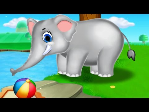 Baby Learn Farm Animals Names and Sounds With Funny Cartoon Characters