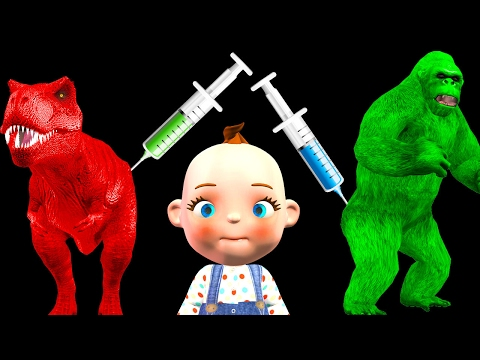 Funny Little Baby Boy Injections In The Bottom Wild Animals Finger Family Nursery Rhymes Collection