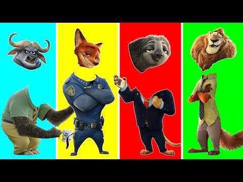 Zootopia Animals with Wrong Heads | Funny Animals Video for Kids | Learn Wild Animals for Children