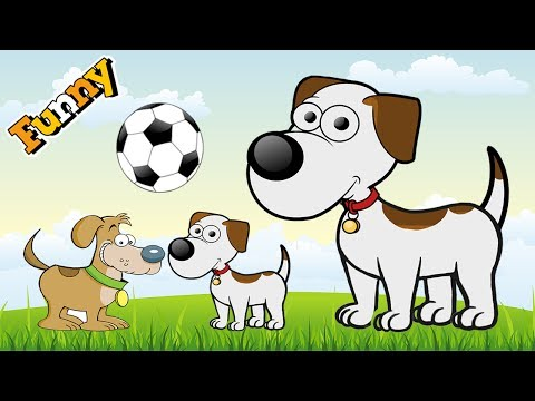 Funny Dogs Cartoons for Children – Funny Dog Video for Children – Cute Dogs Playing Soccer