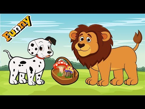 Dogs Cartoons for Children – Dalmatian and  Lion – Funny Animals Cartoons For Children