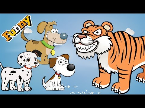 Funny Dogs Cartoons for Children 2017 – Funny Dogs and Friends – Dogs Videos for Kids 2017