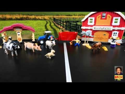 Farm Animals toys playing Stopmotion kids parents will enjoy!!! funny