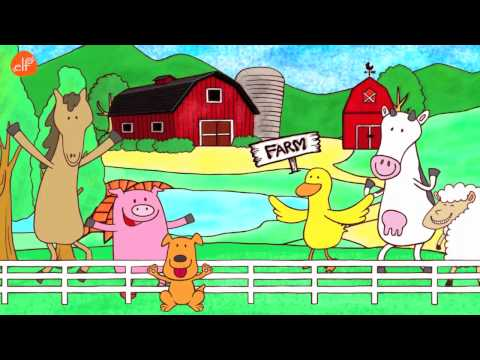 Farm Animals Song – Animals Sounds Song – Walk Around the Farm – ELF Learning