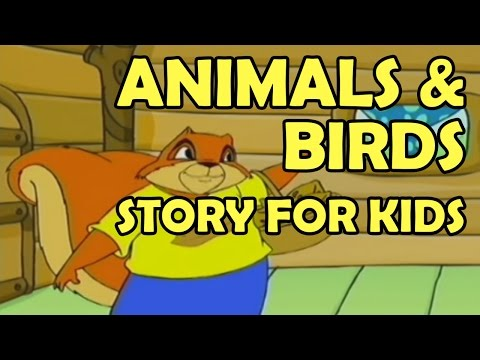 Animals & Birds Story for Kids 2015 || Funny Animals Cartoons Stories