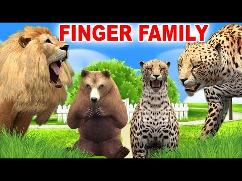 Wild Animals Cartoons Finger Family Nursery Rhymes | Funny Animal Rhymes Songs for Children