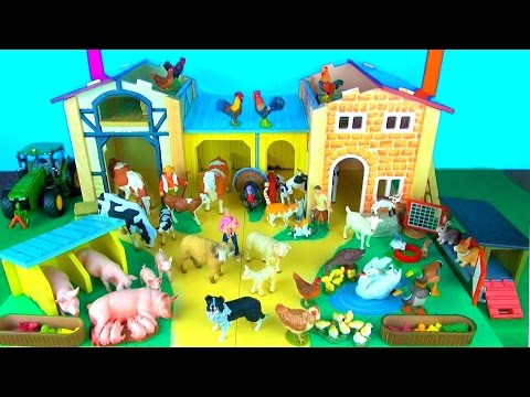 Toy Farm Animals for Kids – Learn Fun Facts about Baby Farm Animals and their Sounds in English
