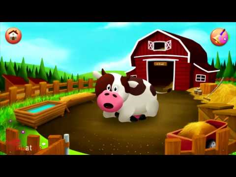 Baby Learn Farm Animals Names and Sounds (Funny Cartoon)