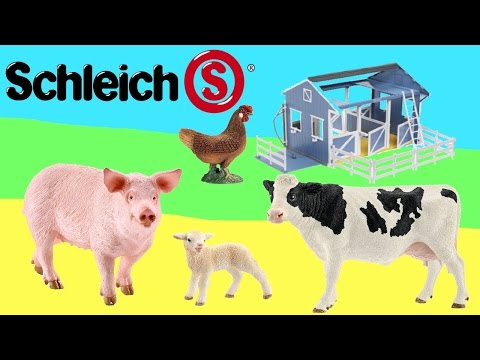 Farm Animal Toy Collection Video for Kids Childrens Funny Happy Cute Zoo Animal Toys