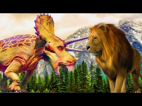 Dinosaur Cartoons For Children | Biggest Wild Animals Battle Videos | 3D Funny Animals Fight Videos