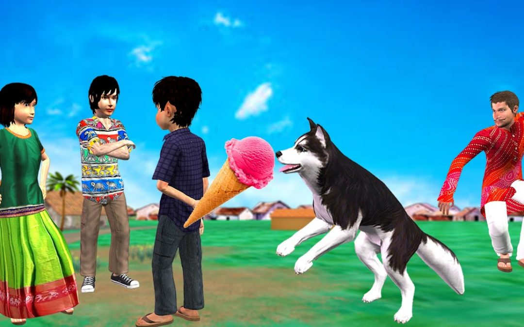कुत्ता आइसक्रीम चोर Dog Ice Cream Thief Funny Video Hindi Kahaniya हिंदी कहानिय Hindi Comedy Video